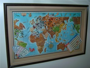 Axis and Allies Mounted picture with frame
