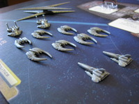 Battlestar Galactica model ship pieces