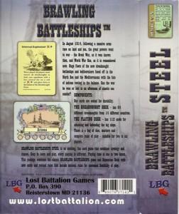 brawling Battleship Steel back cover