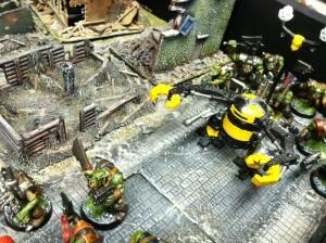 va 18 yellow robot advances