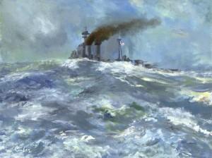 HMS Hood - Naval Art of the Author, Paul Comben