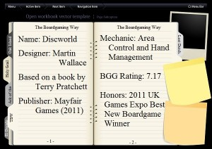 Discworld Open Book with Index Summary