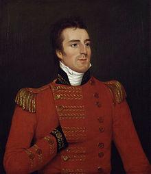 Arthur_Wellesley,_1st_Duke_of_Wellington_by_Robert_Home wearing his major general's uniform in 1804