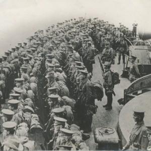 Gallipoli Australian troops about to land