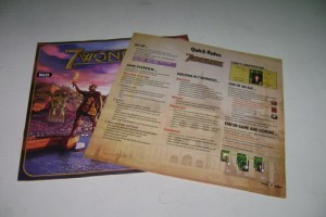 7 Wonders Rule Book and Cheat Sheet