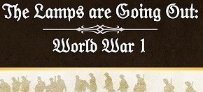"""The Lamps Are Going Out: World War I"" Sample Cards"