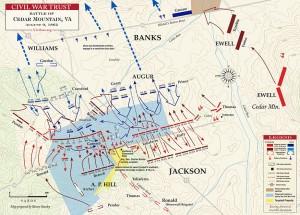 Stonewall's Sword - cedar-mountain-august-9-6 Civil War trust Map