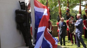 Waterloo memorial unveiled by Prince Charles