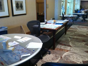 Tempe 2015 30 Outer hall - Stonewall's Sword, HS, AAC and Legion Games Table