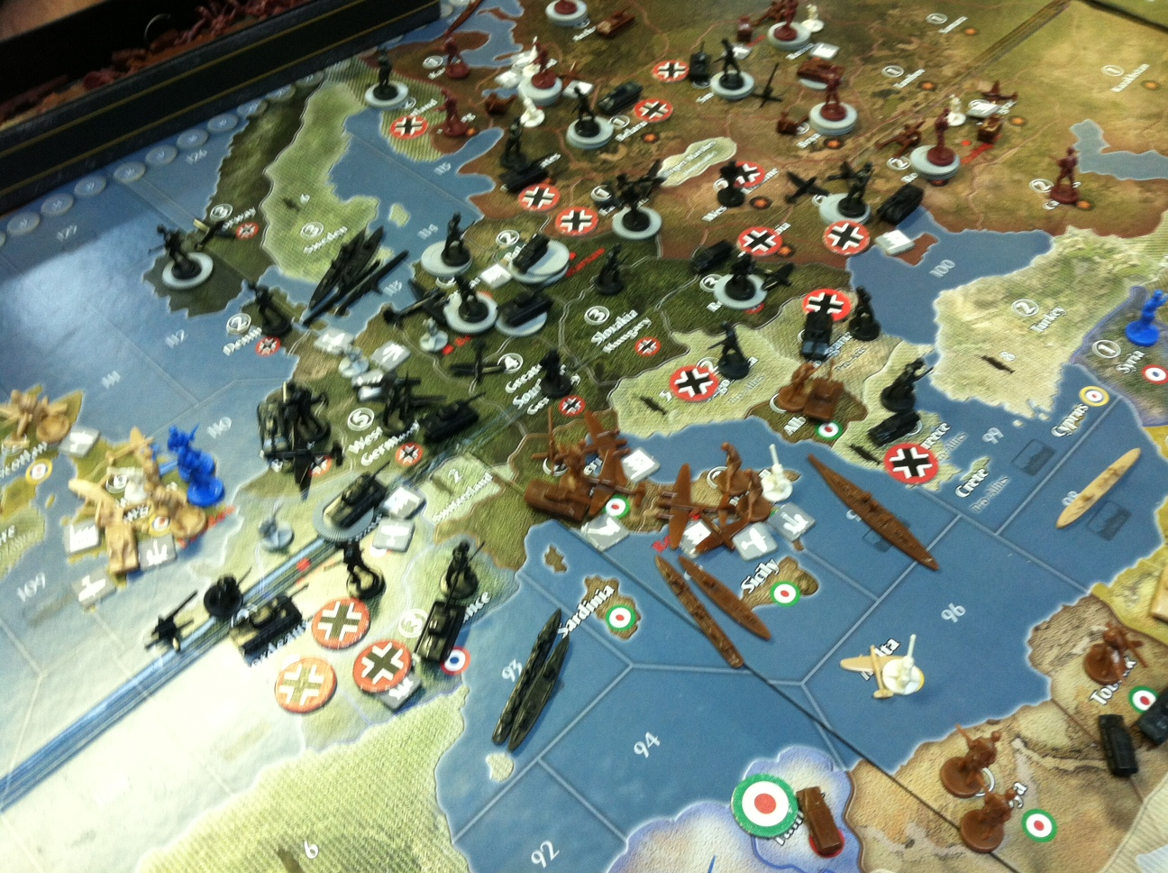 The Boardgaming Way Axis and Allies 1942 Global - A Club Game