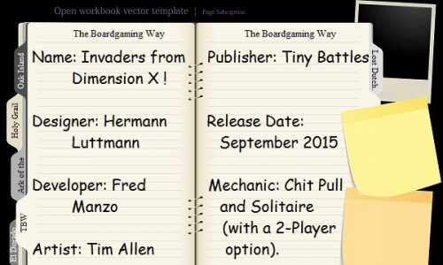 Invaders from Dimension X Open Book with Index
