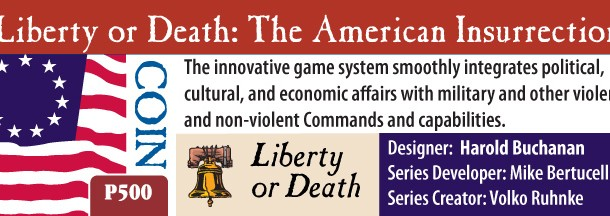 Liberty or Death: The American Insurrection and the Event Cards