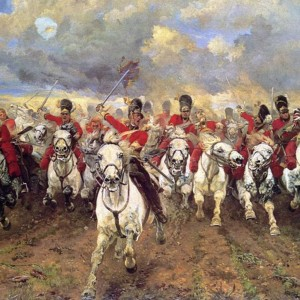 Charge of the Greys at Waterloo
