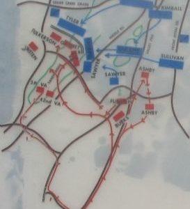 Close Up View - First Kernstown Battle Map