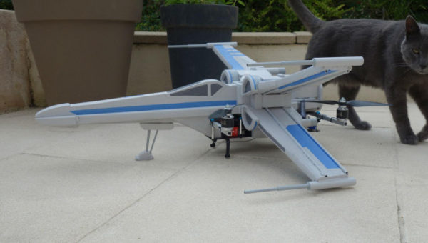 "Digital Trends: ""At long last, somebody finally built a fully functional X-Wing drone"""