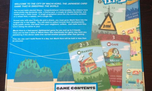 Machi Koro back cover