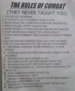 The Rules of Combat (They Never Taught You)