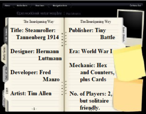 Rules Review & Initial playthrough: Steamroller – Tannenberg 1914